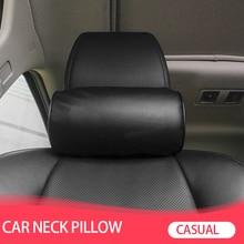 1 szt. Stylowy fotel samochodowy poduszka pod kark ochrona PU Auto zagłówek wsparcie odpoczynek podróżny samochód wygodny zagłówek poduszka pod kark