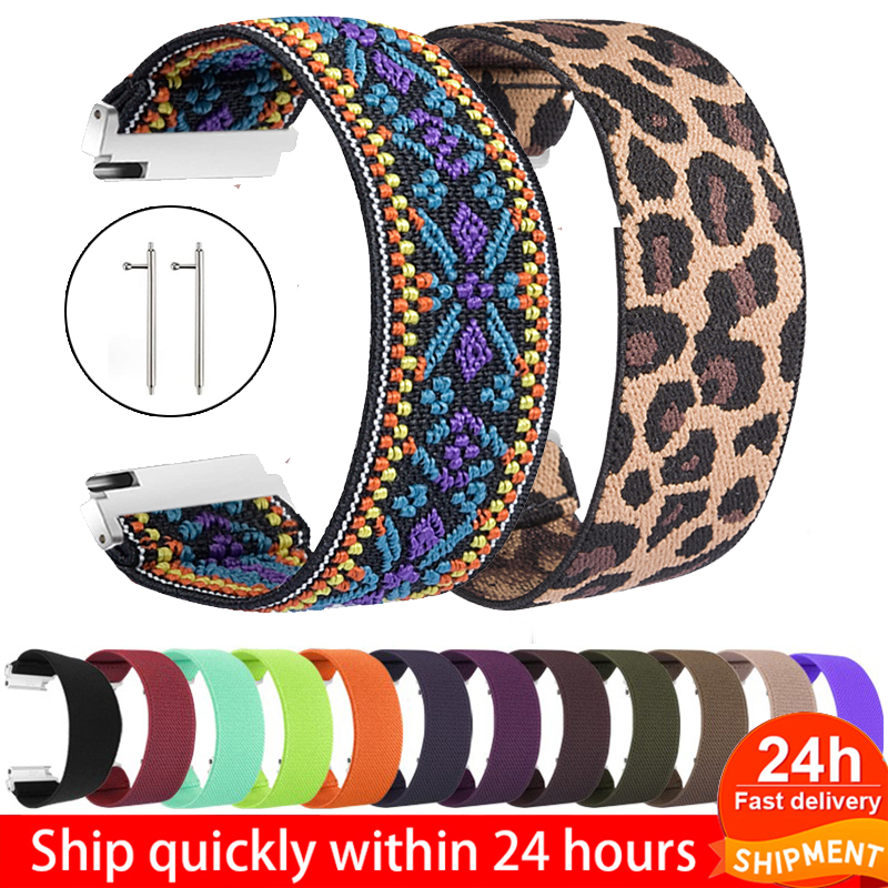 18mm 20mm 22mm Scrunchie Elastic Sport Strap For Samsung Galaxy Watch 46mm Band Nylon Active 2 Gear S3 Band For Woman Bracelet