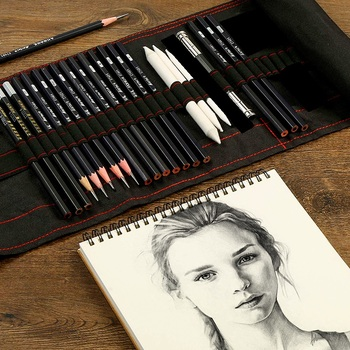 Sketch pencil set charcoal full set of student entry tools painting professional beginner drawing art supplies sketch pencil set charcoal full set of student entry tools painting professional beginner drawing art supplies