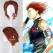 Novo caçador x caçador figura de ação chaveiro dupla face hisoka filme tv peruca cosplay + peruca boné