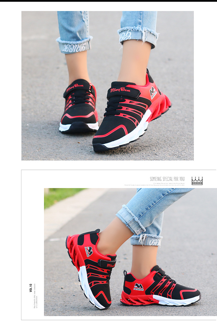 H1020aaa81ab04733b3ec1439fcedfa46H - Autumn Kids Shoes Boys Sneakers Breathable Patchwork Hook&Loop Sport Running Children Shoes For Girls Casual Shoes
