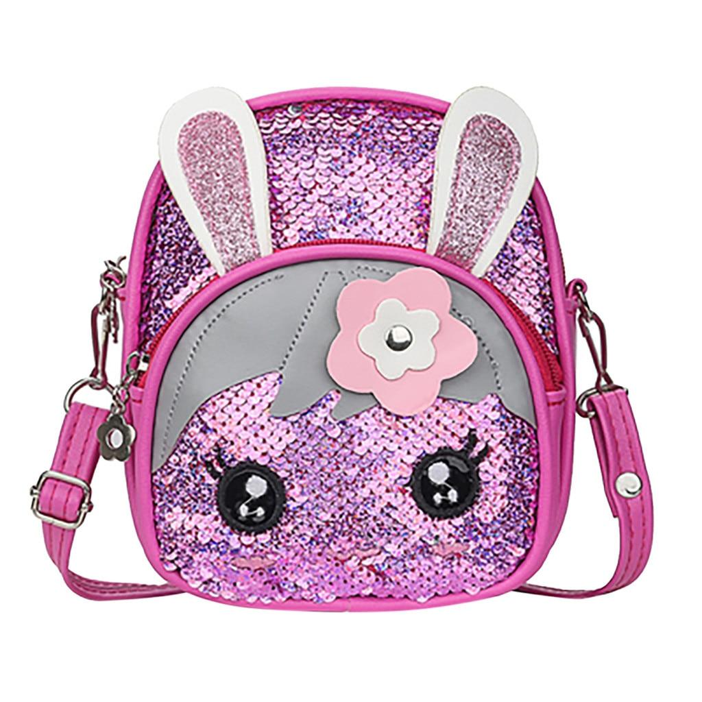 2019 3D Cartoon School Bag New Children Blinking Sequins Backpack Fashion Wild Cute Rabbit Ear Backpack детский рюкзак