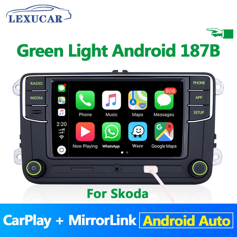 Green Button Light Green Menu Android Auto Carplay <font><b>Noname</b></font> <font><b>RCD330</b></font> RCD330G Plus For Skoda Octavia Fabia Superb Yeti 6RD 035 187B image