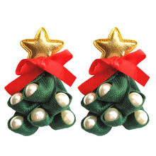 2019 Promotion New Arrival Tin Alloy Brinco Earing European And American Christmas Jewelry Cute Cloth Art Tree Earrings