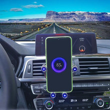 Беспроводное Автомобильное зарядное устройство 10 Вт для iPhone/X /XR/ XS/Max 8 11 и Samsung note9/S10/S9