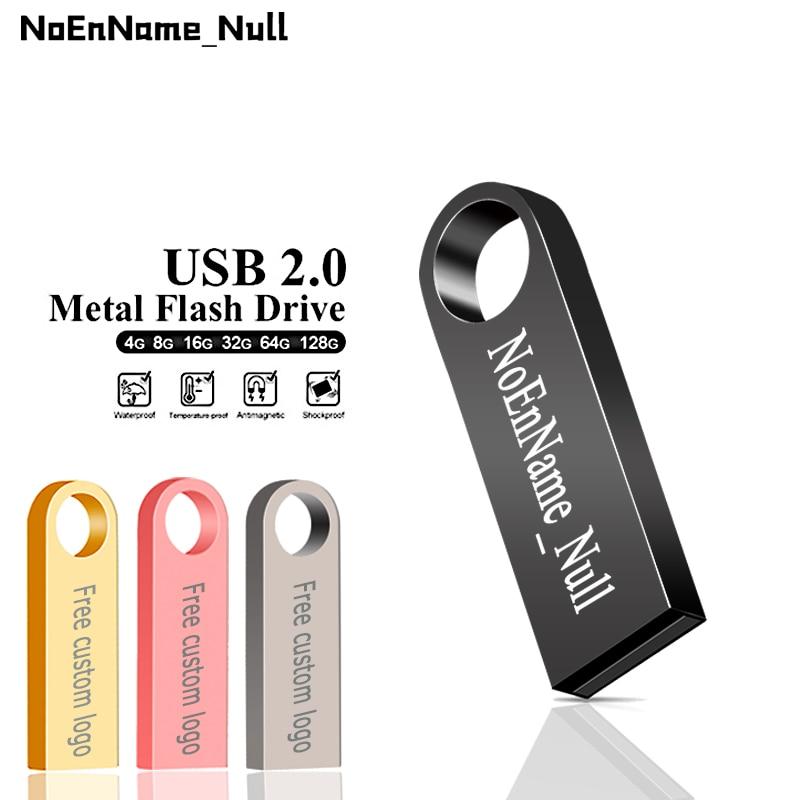 Pen Drive Metal Pendrive 2.0 32GB 128GB 16GB 8GB 4GB High Speed Usb Flash Drive 64gb Usb Memory Disk Free Custom Logo & Shipping