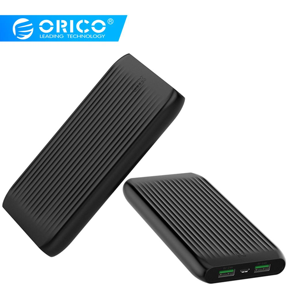 ORICO 10000mAh Large Capacity Slim Power Bank Dual USB External Battery Pack Powerbank Poverbank Charger For Xiaomi Mobile Phone