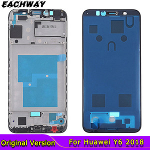 Original for Huawei Y6 2018 Front Frame Middle Bezel Housing Honor 7A Pro Faceplate Chassis For Huawei Y6 Prime 2018 Front Frame