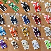 600 компл./лот = 300 комплект детской одежды с подтяжками, галстуком-бабочкой комплект+ 300 комплект для взрослых и детей; Пижама с подтяжками, галстуком-бабочкой, комплект