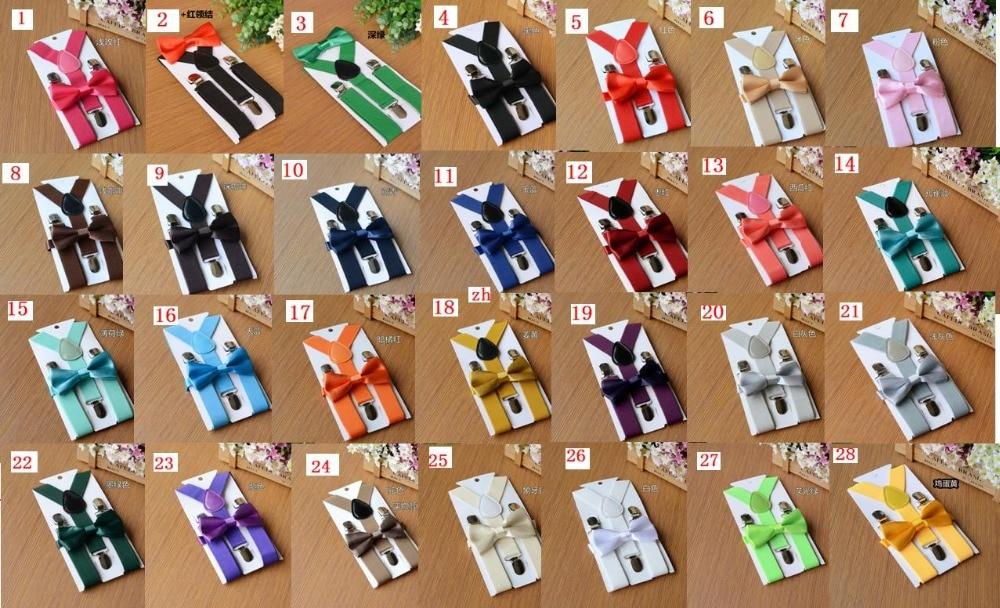 600sets/lot =300set Children Suspenders Bowtie Set+300set Adult Suspenders Bowtie Set