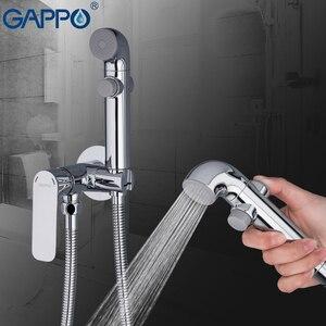 Image 4 - GAPPO G7248 1 + Y03 grifos de bidé, grifo de ducha musulmán, mezclador de bidé, pulverizador higiénico, montaje en pared de la Ducha, Shattaf
