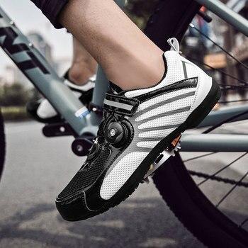 Nuovo Pro di Estate Della Maglia Traspirante Strainer Velcro Scarpe Da Ciclismo Su Strada All'aperto Ultrlight Scarpe Da Ciclismo Uomini Bici Da Strada Donne Scarpe Da Ginnastica
