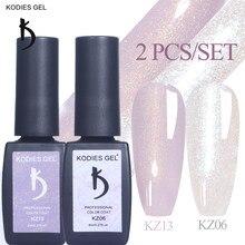 KODIES – vernis à ongles GEL 2, 8ML, couleur Champagne, or, UV, paillettes, hybride, Gellak, pour nail art