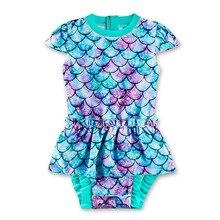 2021 Girl Swimsuit Kids One Piece Mermaid Swimwear Children's Bikini Toddler Girl Bathing Suit Beachwear  4 6 8 10 Years