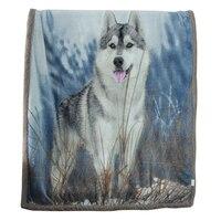 Mantas Súper suaves de felpa de Lobo  mantas de doble cara para sofá cama  manta suave de viaje  manta de viaje para coche