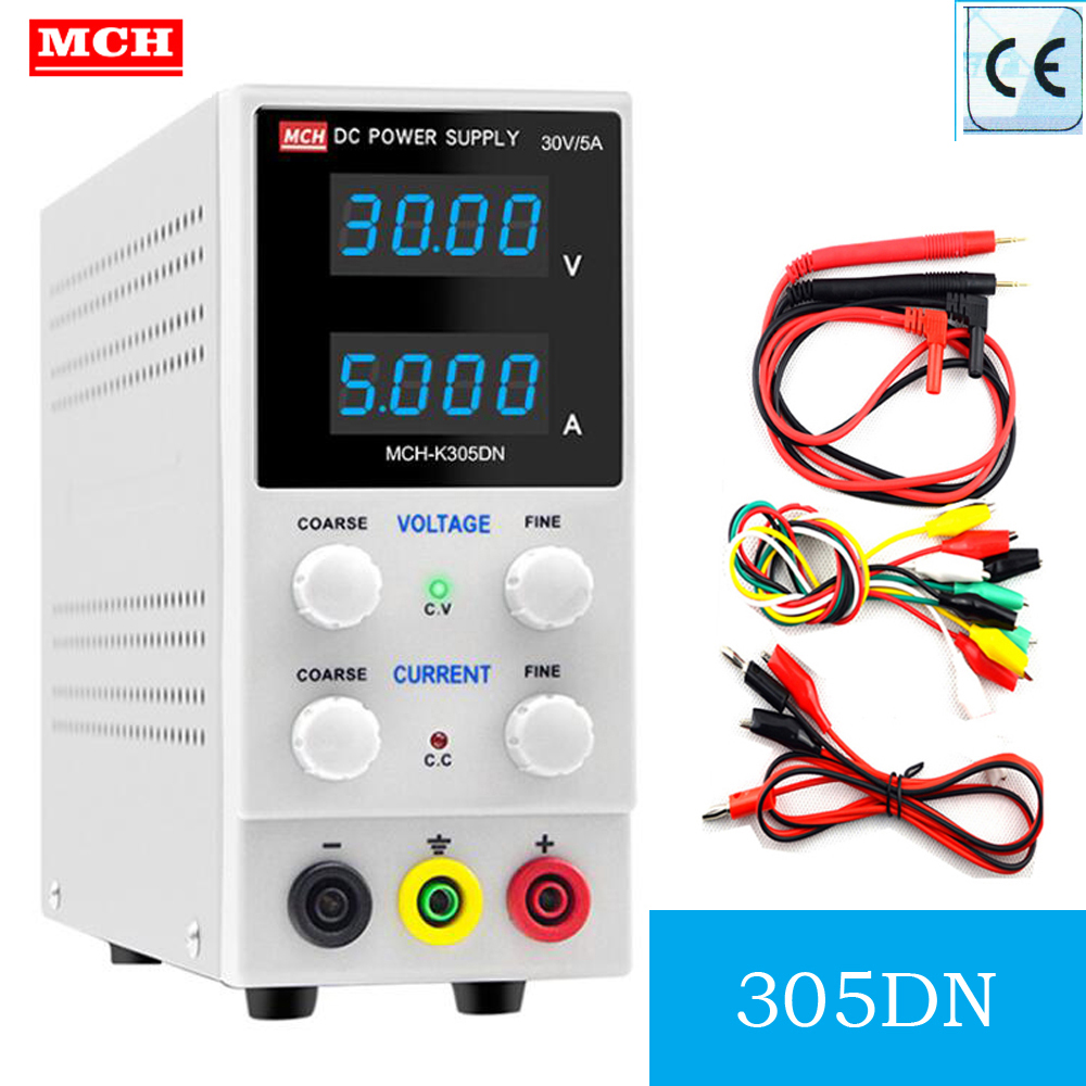 <font><b>MCH</b></font>-<font><b>K305D</b></font> Adjustable DC Power Supply 30V 5A Switching Power Supply Phone Repair Voltage Regulator 110V 220V Lab Power Supply image