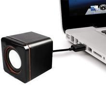 HobbyLane Портативные Компьютерные колонки с питанием от USB, настольный мини-динамик, басовый звук, музыкальный плеер, проводной маленький динамик d25