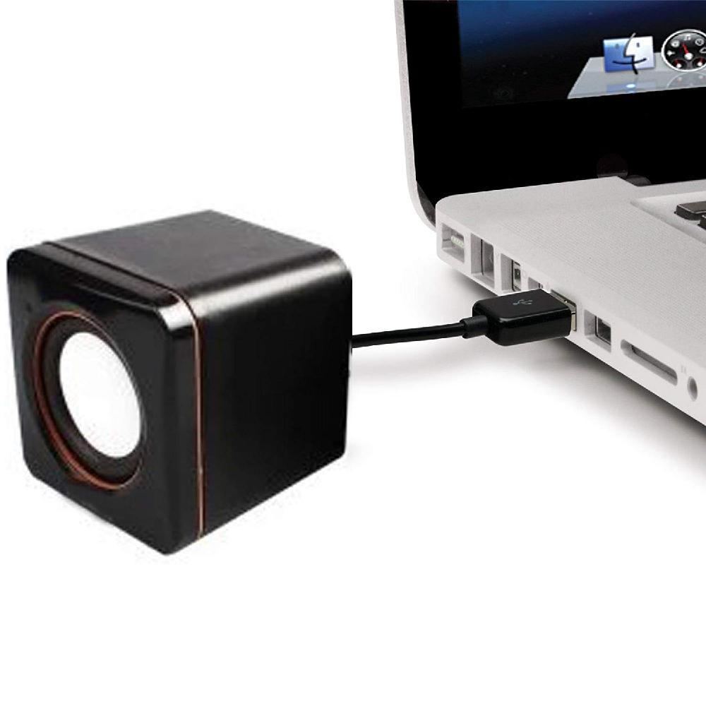 HobbyLane Portable Computer Speakers USB Powered Desktop Mini Speaker Bass Sound Music Player System Wired Small Speaker d25