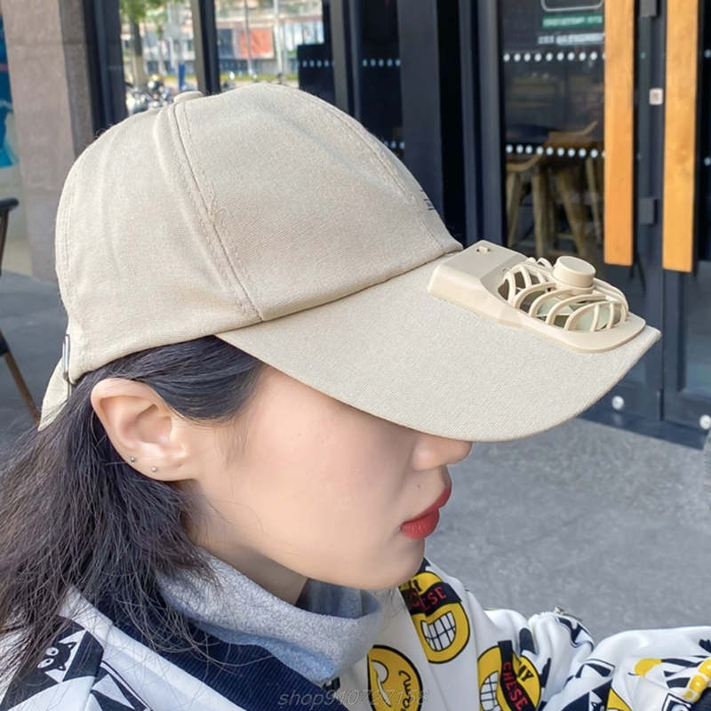 Unisex Summer USB Charging Cooling Fan Baseball Cap Outdoor Golf Sunscreen Letters Print 2 Speed Adjustable MY27 21 Dropship