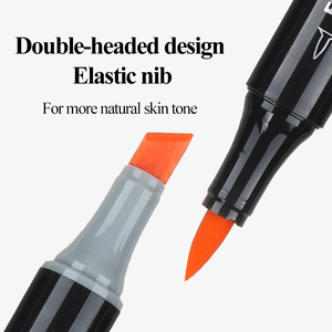 Image 2 - Finecolour EF103 12/24/36 Skin Colors Alcohol Based Ink Art Markers Calligraphy Marker Double Headed Brush Markers For Drawing