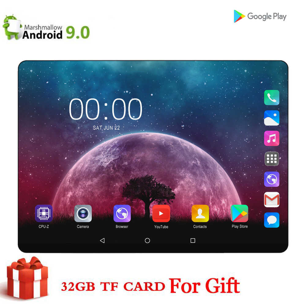 Akpad CP9 64Gb (32Gb + 32Gb Kaart) bluetooth Wifi Phablet Android 9.0 10.1 Inch Tablet Dual Sim-kaart 2.5D Tablet 9 10 Ce Band