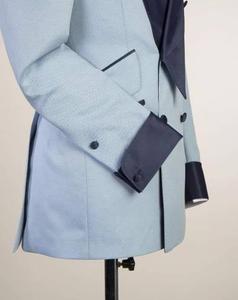 Image 2 - Pupular Mantel Hose Designs Licht Blau Casual Benutzerdefinierte Jacke Männer Anzüge Slim Fit 2 Stück Smoking Qualität Terno Masculino