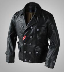 Немецкий Бомбер куртка пилот куртка WW2 искусственная кожа пальто для мужчин зима