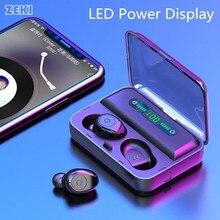 ZEKI LED Power Display True Wireless Earbuds TWS 5.0  auriculares bluetooth inalambrico Portable Sport Headeset with Bank