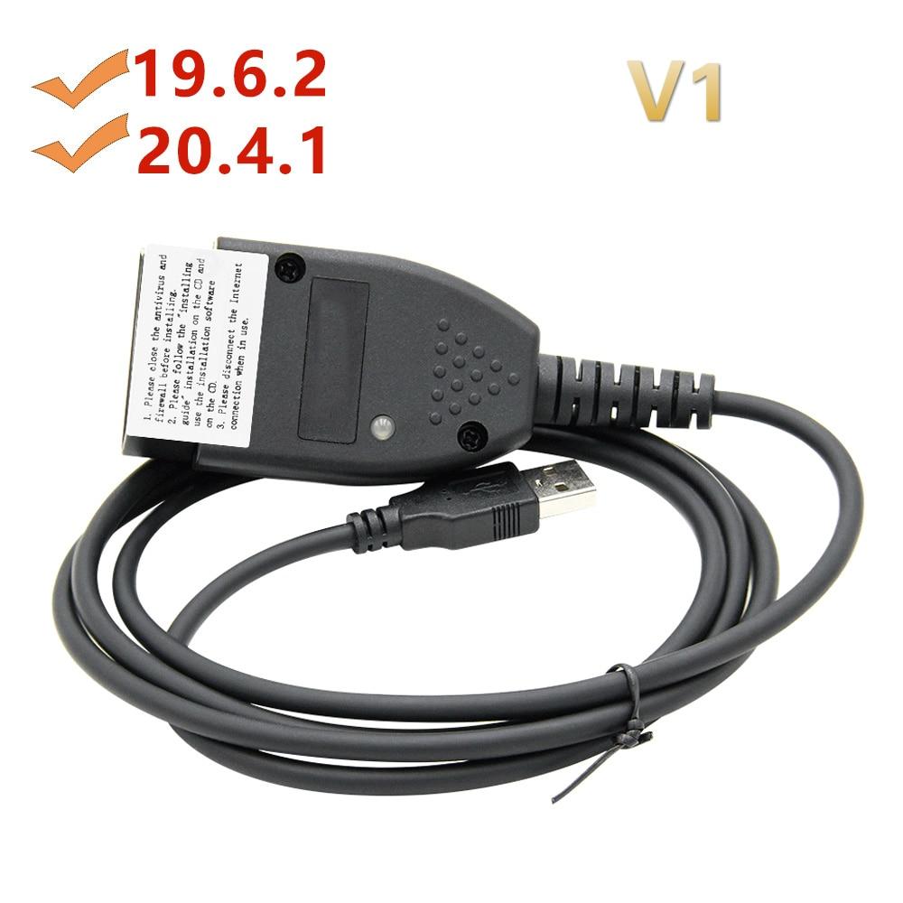Cable de diagnóstico de coche Vag Com 19.6.2 HEX CAN, USB, 19.6.2, HEX, Vag 19.6.2, Hungaro/Inglés, novedad de 2019