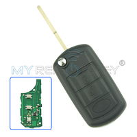 Flip remote car key 3 button 434 mhz HU101 with ID44 chip for Landrover LR4 remtekey