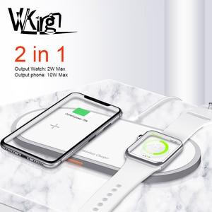 Image 1 - Cargador inalámbrico magnético 2 en 1 para Apple Watch, cargador de carga rápida para iPhone 8, X, Xs, Max, Samsung S9, 5/4/3/2/1