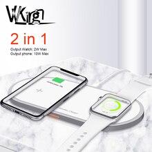 Caricatore senza fili Per iPhone 8 X Xs Max Samsung S9 Per Apple Osservare 5/4/3/2/1 magnetico Senza Fili di Carica 2 in 1 di Ricarica Veloce Pad