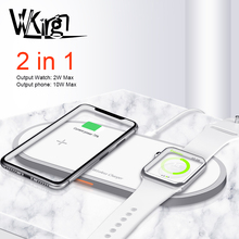 Wireless Charger For iPhone 8 X Xs Max Samsung S9 For Apple Watch 5/4/3/2/1 Magnetic Wireless Charge 2 in 1 Fast Charging Pad