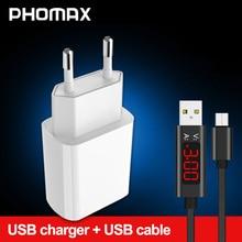PHOMAX  USB Charger 3.0 18 W Fast phone Charger for iPhone X xs 8 7 iPad Samsung Galaxy s8 s9 Galaxy HTC Xiaomi mi8 Huawei Nexus