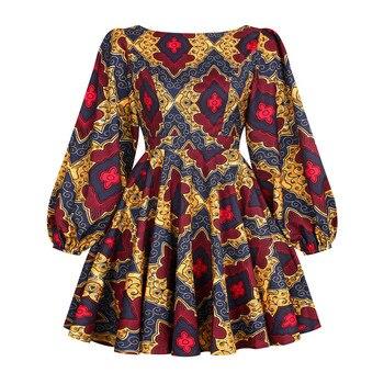 African Dashiki Print Dress Women 2021 Fashion Party African Maxi Dress Women African Clothes Long Sleeve African Dresses Women