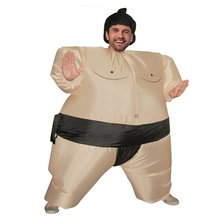 Inflatable Sumo Costume Suits Wrestler Halloween for Adult/Children Fat Man Party Cosplay Blowup