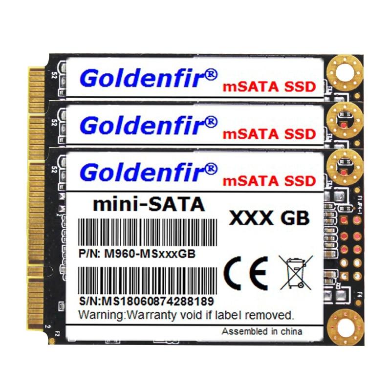Goldenfir MSATA SSD SATA 3 1TB 960GB 512GB 480GB 360GB 256GB 240GB 128GB 120GB 64GB 60GB SSD MSATA Solid State Drive Free Shippi