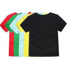 12 цветов, одежда для девочек, однотонные футболки для мальчиков и девочек, детская с коротким рукавом, хлопковая футболка, детские летние футболки, топы для детей 2-14 лет