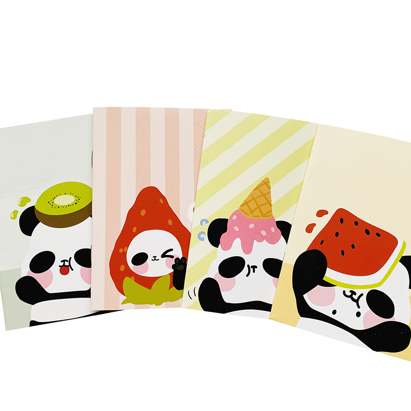 18 Pages Cute Panda And Fruit Notebook Writing Diary Book School Office Supply Kids Gift Student Stationery