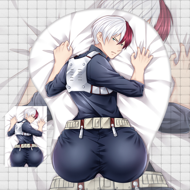 2019 Anime My Boku No Hero Academia Todoroki Shoto 3D Buttock Soft Gel Gaming Mouse Pad Mousepad  Wrist Rest Cosplay Gifts