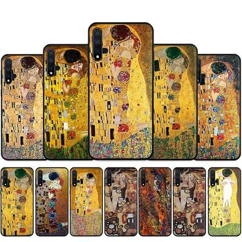 the kiss Gustav Klimt Painting Silicone Phone Case For Huawei Nova Lite 2 Lite 2i 3 3i 4 4E 5i 5T 7 7SE Back Cover image