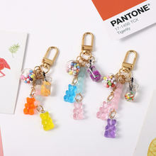 New cute ins candy keychain airpods rainbow gummy bear soft