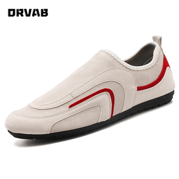 Men Casual Shoes 2020 Fashion Slip On Flock Moccasin Driving Shoes Soft Comfortable Breathable Flats