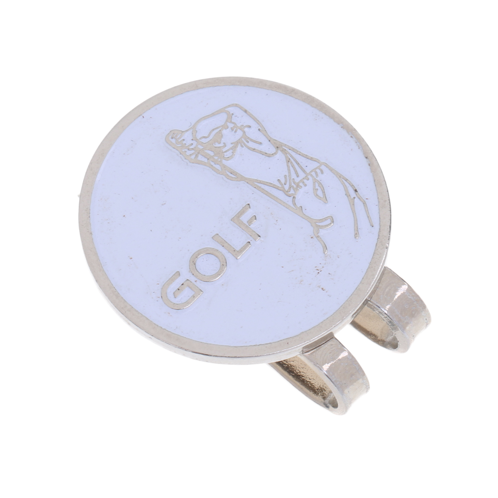 Magnetic Standard Golf Ball Marker Hat Clip, Attaches Easily To Hats And Caps - Lightweight & Portable