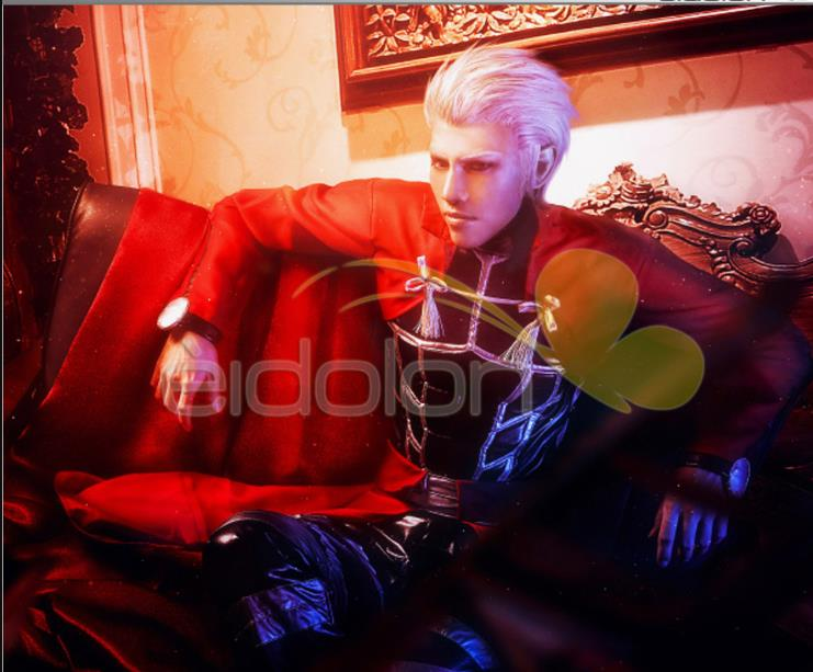 Stock!!Fate Stay Night Archer Cosplay Costume Red Coat Full Set In Stock