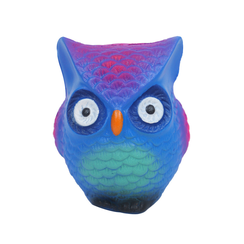 Adorable Owl Charm Slow Rising Collection Stress Reliever Toys Depression Depressable Vent Toy Squeeze Kid Adult Toys Gift #B