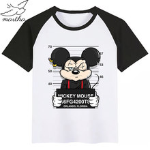 Mickey Mouse Funny Dog Cartoon Baby Boy Girl Tshirt Kids Boys Top Child Print Tee Funny T-shirts Summer Short Sleeve(China)