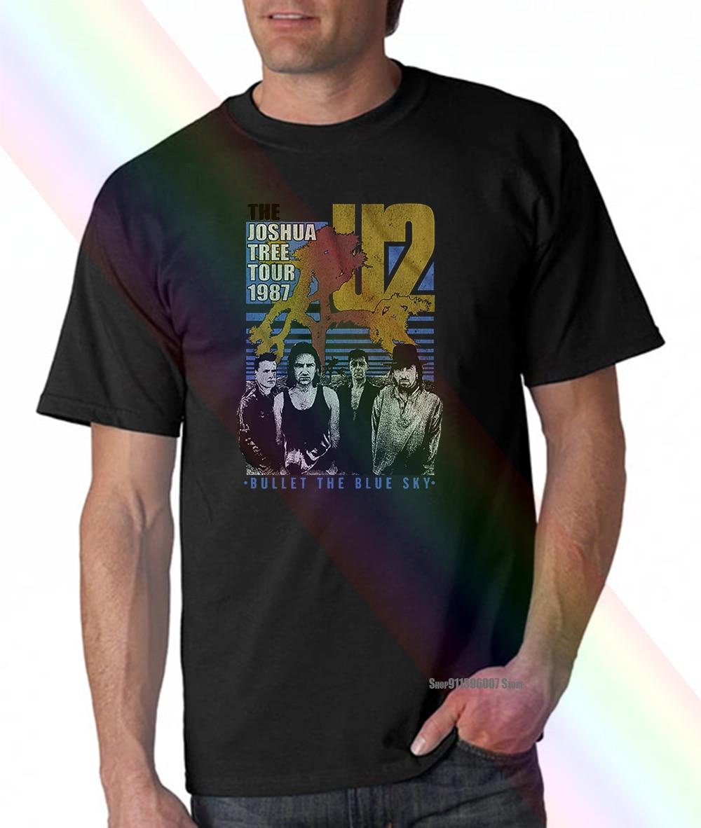 U2 усиленная винтажная очень большая футболка с принтом «Джошуа дерева»
