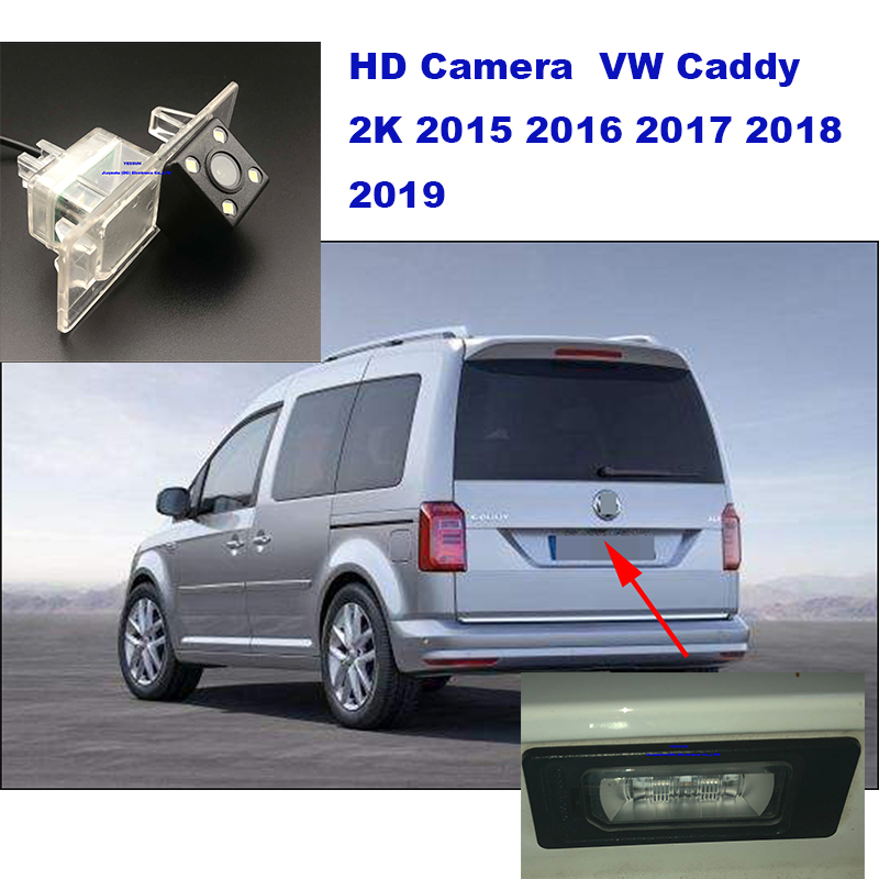 Yessun License Plate Camera For Volkswagen Caddy 2K 2015 2016 2017 2018 2019 Car Rear View Camera Parking Assistance