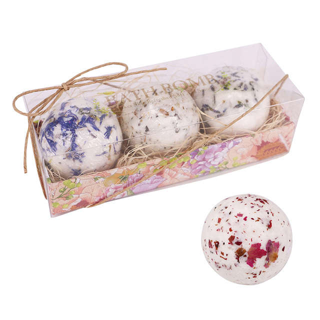 New 3pcs Bath Salt Ball Flower Bubble Whitening Moisturize SPA Relaxation Gift SCI88 3